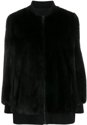 Simonetta Ravizza Asia mink bomber jacket