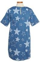Stella McCartney 'Bess' Star Appliqué Stretch Denim Dress (Toddler Girls, Little Girls & Big Girls)