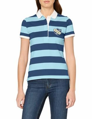Gant Women's D2. Summer Stripe Ss Rugger Polo Shirt