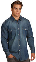 Antigua Men's Modern-Fit Chambray Button-Down Shirt