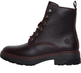 Timberland Womens Nolita Sky Lace Up Ankle Boots Dark Port