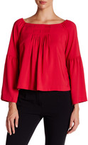 Nanette Lepore Island Party Bell Sleeve Blouse
