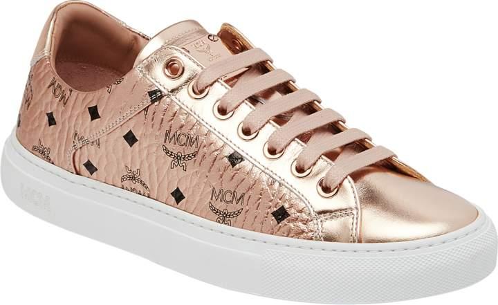 MCM Men's Low Top Sneakers In Visetos