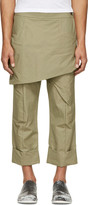 Thamanyah Green Waxed Skirt Trousers