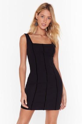 Nasty Gal Womens Throw a Hissy Fit Square Neck Mini Dress - black - 8