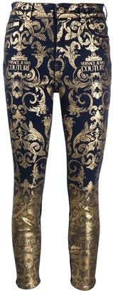 Versace Jeans Couture Baroque Print Skinny Jeans