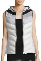 Blanc Noir Packable Down Moto Vest