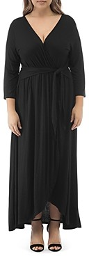 B Collection by Bobeau Curvy Lea Faux-Wrap Maxi Dress