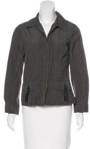 Gerard Darel Long Sleeve Button-Up Top