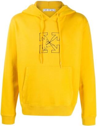 Off-White Workers logo-print hoodie