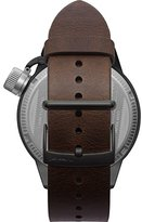 Vestal 'Canteen Italia' Quartz Stainless Steel and Leather Dress Watch, Color:Brown (Model: CNT3L07)