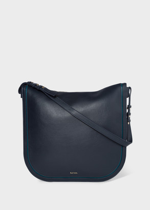 Paul Smith Women's Navy 'Concertina' Leather Hobo Bag