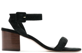 Egrey Block-Heeled Suede Sandals