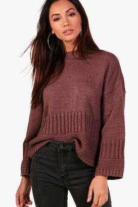 boohoo Petite Wide Sleeve Oversized Sweater