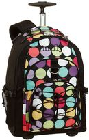 PBteen Gear-Up Black Dot-to-Dot Rolling Backpack
