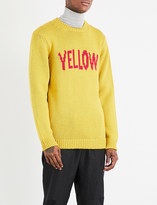 Fendi Text intarsia wool jumper