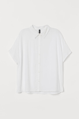 H&M Dolman-sleeved Blouse - White