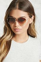 Forever 21 Brow Bar Aviator Sunglasses