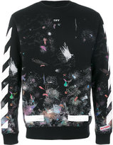 Off-White brushed galaxy sweatshirt - men - Cotton - XS