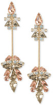 ABS by Allen Schwartz Gold-Tone Multi-Crystal Linear Drop Earrings