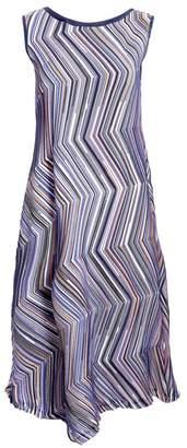 Issey Miyake Dotted Line Sleeveless Shift Dress