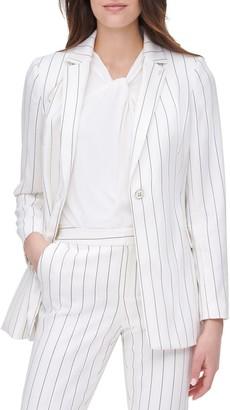 Tommy Hilfiger Long Sleeve Pinstripe Jacket