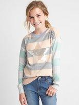 Gap Sequin mix-stripe sweater