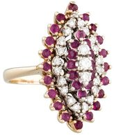Ring Diamond & Pink Sapphire