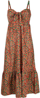 L'Autre Chose Abstract-Print Ruffled Dress