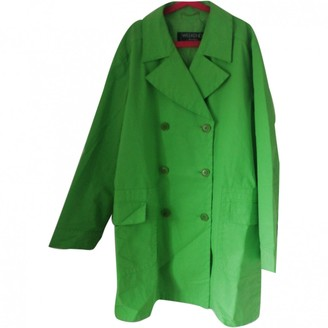 Max Mara Weekend Green Cotton Trench Coat for Women Vintage