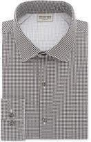 Kenneth Cole Reaction Men's Slim-Fit Techni-Cole Flex Collar Performance Black Print Dress Shirt