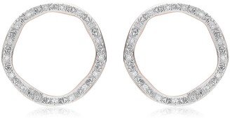 Monica Vinader Riva Large Circle Diamond Stud Earrings