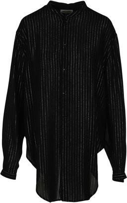 Saint Laurent Striped Lace Shirt