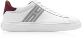 Hogan H340 White Leather with Red Nubuck Men's Sneakers