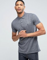 Jack Wills Polo Shirt In Jersey Marl In Navy