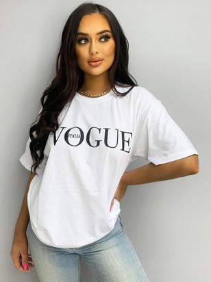 AX Paris Slogan T-shirt-White