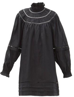 Etoile Isabel Marant Adenia Ladder-lace Linen Dress - Black