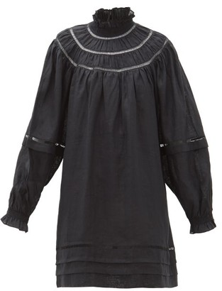 Etoile Isabel Marant Adenia Ladder-lace Linen Dress - Womens - Black