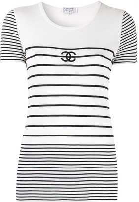 Chanel Pre Owned border short sleeve top