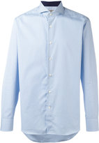 Canali checked print shirt
