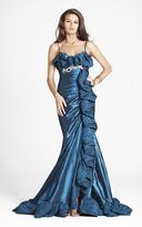 Blush Lingerie P017 Sleeveless Ruffled Evening Gown
