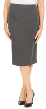 Kasper Pin-Dot Pencil Skirt