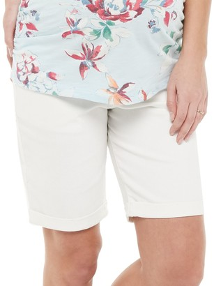 Maternity a:glow Roll Cuff Bermuda Shorts