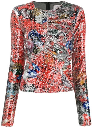 Preen by Thornton Bregazzi Willow abstract printed top