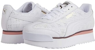 Puma Roma Amor Perf White/Bridal Rose/Vineyard Wine) Women's Shoes