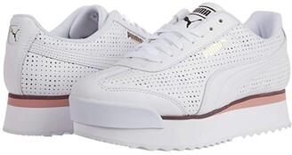 Puma Roma Amor Perf White/Bridal Rose/Vineyard Wine) Women's Shoes