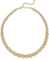 Charter Club Gold-Tone Graduated Bead Collar Necklace