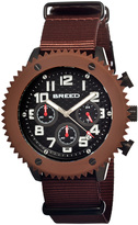 Breed Brown & Black Decker Chronograph Watch