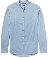 Michael Kors - Slim-fit Grandad-collar Denim Shirt