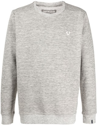 True Religion Marled Crew Neck Sweatshirt